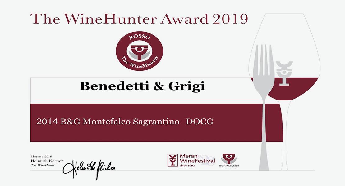 The WineHunter Award 2019 – Montefalco Sagrantino DOCG 2014 della linea Benedetti & Grigi