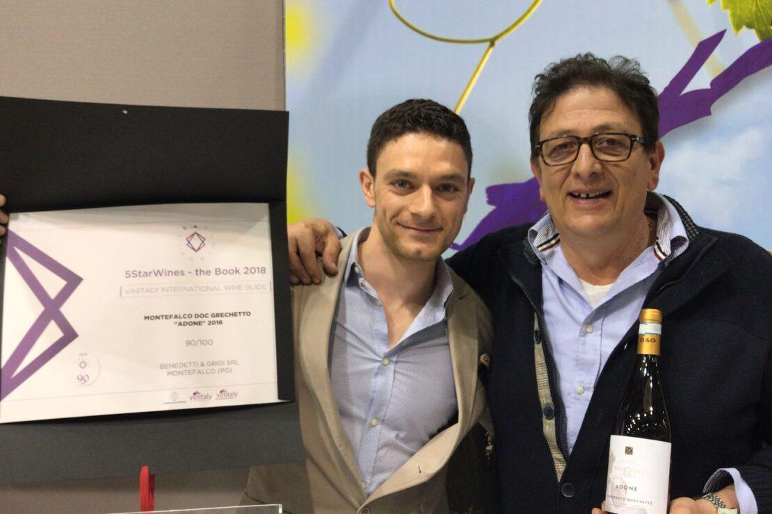 """Vinitaly 2018 – """"Adone"""", Montefalco Grechetto DOC di Benedetti & Grigi, Selezionato Da 5StarWines"""